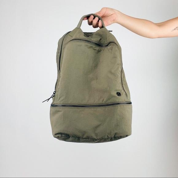 Lululemon green weekender backpack